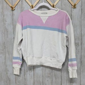 Wildfox White and Pink Sweater